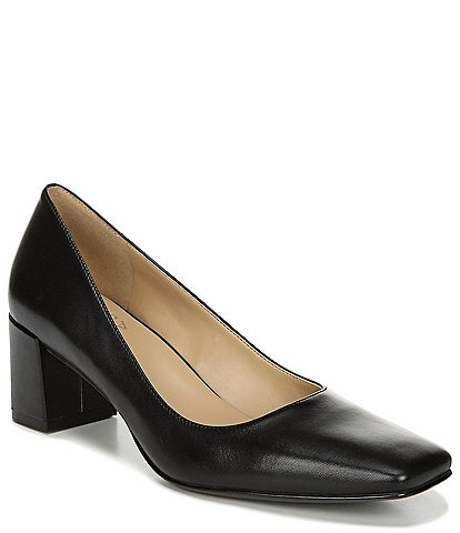Naturalizer Karina Leather Block Heel Pumps