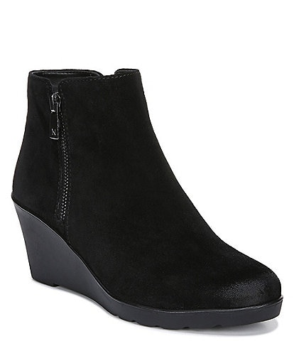 Naturalizer Landry Water Repellent Suede Wedge Booties