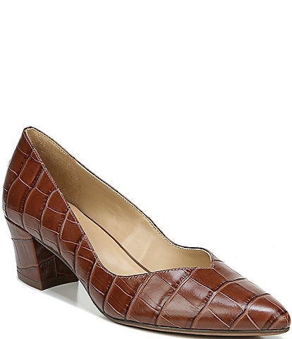 Naturalizer Mali Croc Embossed Leather Pumps