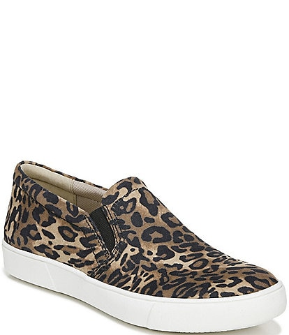 Naturalizer Marianne Cheetah Print Leather Slip On Sneakers