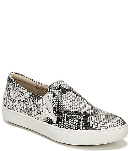 Naturalizer Marianne Snake Print Leather Slip-On Sneakers