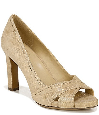 Naturalizer Odetta Leather Peep Toe Pumps