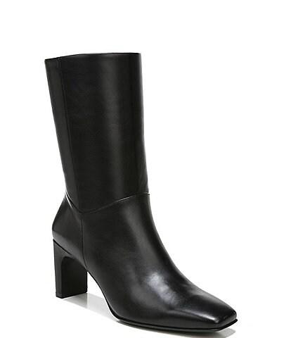 Naturalizer Platt Leather Square Toe Mid Boots