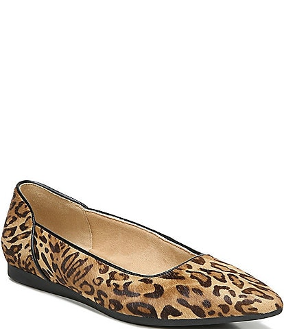 Naturalizer Rayna Cheetah Print Calf Hair and Leather Flats