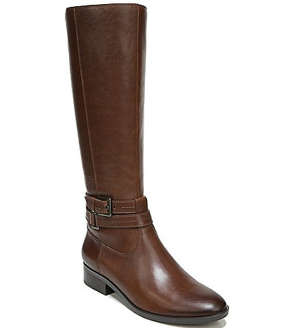 Naturalizer Reid Wide Calf Leather Tall Block Heel Boots