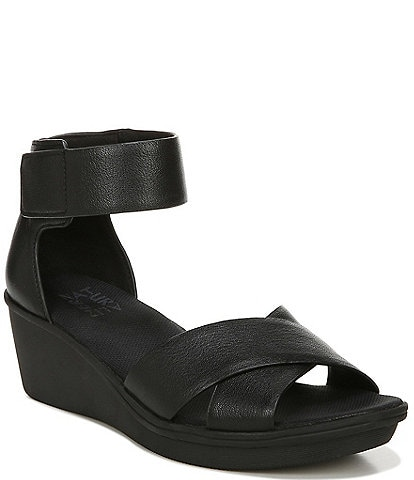 Naturalizer Riviera Leather Ankle Strap Wedges