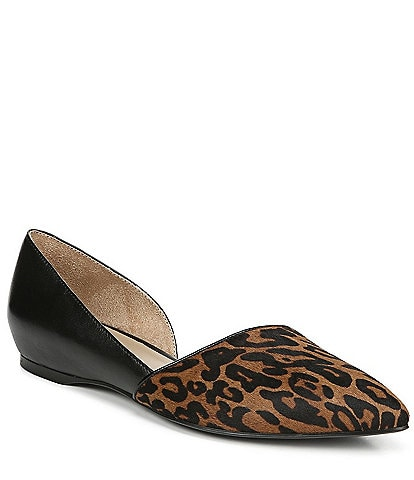 Naturalizer Samantha Cheetah Printed Calf Hair Flats