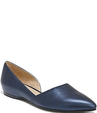 Naturalizer Samantha Metallic Leather Flats
