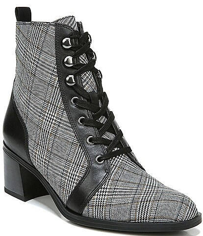 Naturalizer Sevilla Plaid Block Heel Booties