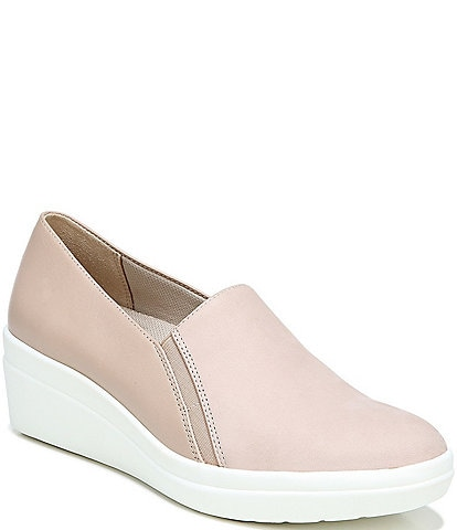 Naturalizer Snowy Leather Wedge Sneakers