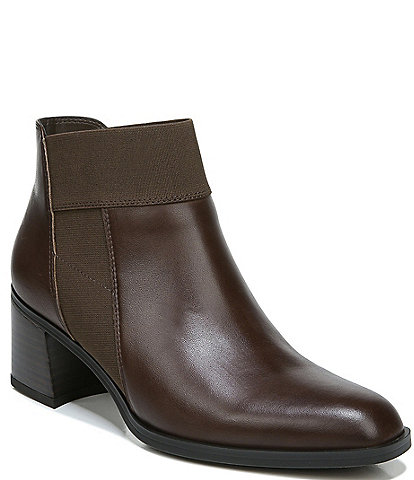 Naturalizer Story Leather Block Heel Ankle Booties