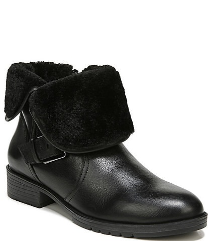 Naturalizer Sutton Leather Block Heel Booties