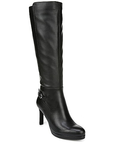 Naturalizer Tai Wide Calf Leather Tall Dress Boots