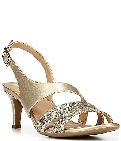Naturalizer Taimi Glitter & Metallic Dress Sandals