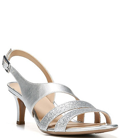 Naturalizer Taimi Glitter Metallic Strappy Dress Sandals