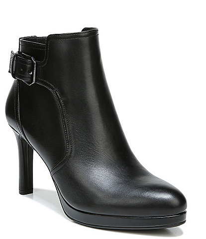 Naturalizer Tatum Leather Buckle Detail Dress Booties