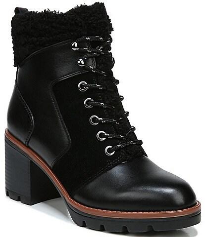 Naturalizer Val Leather Moto Block Heel Booties