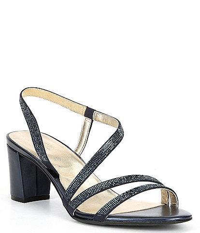 Naturalizer Vanessa Strappy Crystal Detail Block Heel Evening Dress Sandals