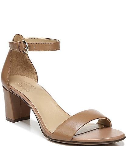 Naturalizer Vera True Colors Leather Ankle Strap Block Heel Dress Sandals