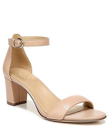 Naturalizer Vera Leather Ankle Strap Block Heel Dress Sandals