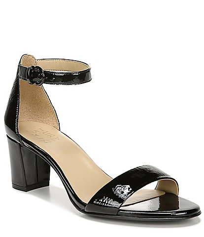 Naturalizer Vera Patent Leather Ankle Strap Dress Sandals