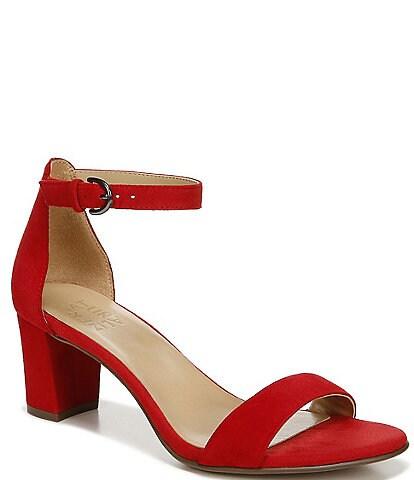 Naturalizer Vera Suede Ankle Strap Block Heel Dress Sandals