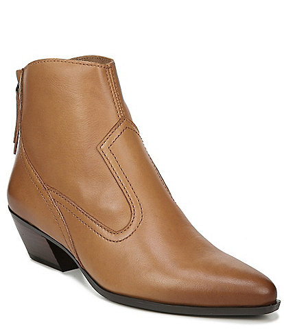 Naturalizer Wallis Leather Western Block Heel Booties