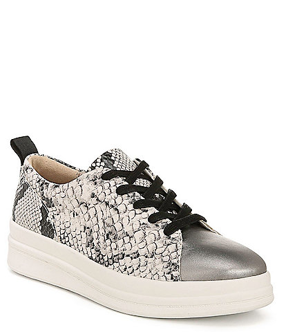 Naturalizer Yarina Snake Print Leather High-Wall Sneakers