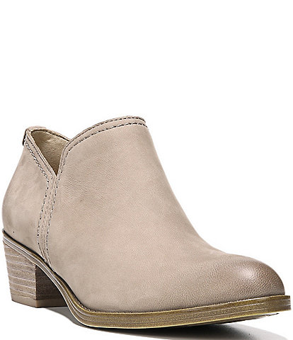 Naturalizer Zarie Leather Block Heel Western Ankle Booties