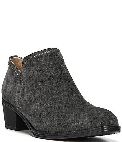 Naturalizer Zarie Suede Block Heel Booties