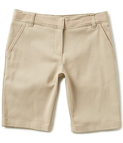 15afee155 Nautica Big Girls 7-16 9#double; Twill Shorts