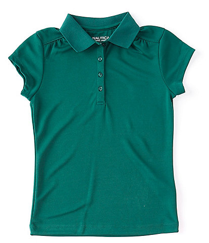 Nautica Big Girls 7-16 Short-Sleeve Performance Polo