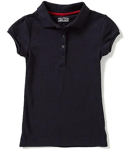 Nautica Big Girls 7-16 Short Sleeve Polo Shirt