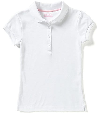 Nautica Big Girls 7-16 Short Sleeve Polo Shirt