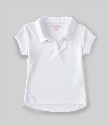 Nautica Little Girls 4-6X Short-Sleeve Performance Polo