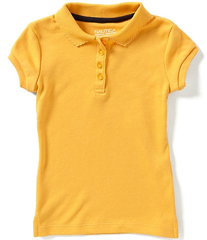 Nautica Little Girls 4-6X Short Sleeve Polo