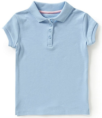 Nautica Little Girls 4-6X Short Sleeve Polo