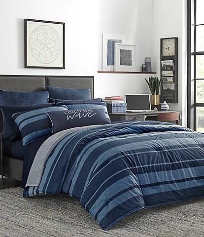 Nautica Longpoint Large Stripe Mini Comforter Set