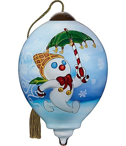 Ne' Qwa Art 2020 Mr. Bingle Hand Painted Glass Petite Finial Ornament