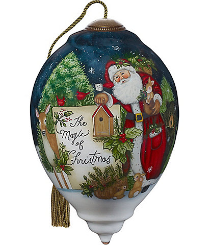 Ne' Qwa Art 2020 The Magic of Christmas Hand Painted Glass Finial Ornament