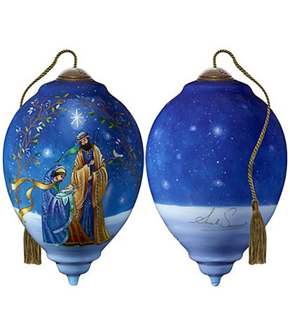 Ne' Qwa Art Holy and Blessed Family Hand Painted Glass Finial Ornament