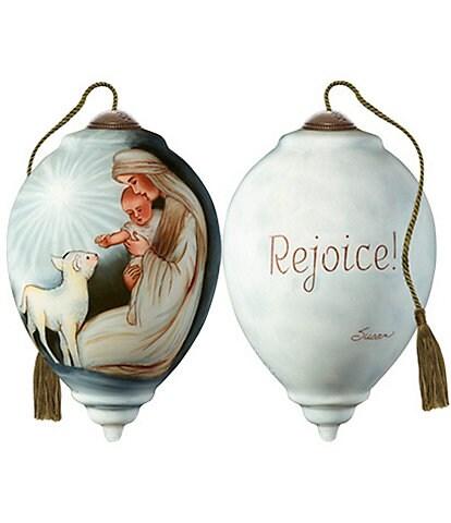Ne' Qwa Art Rejoice! Hand Painted Glass Finial Ornament