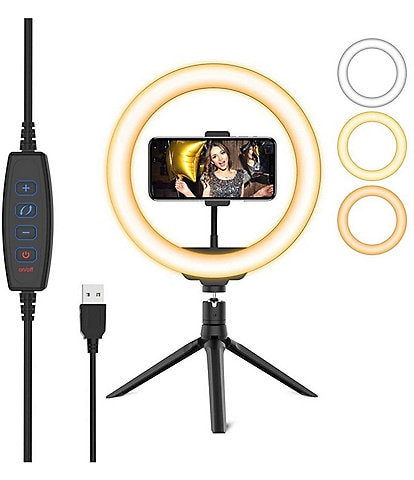 NeonTEK 10#double; LED Ring Light with Smartphone Holder