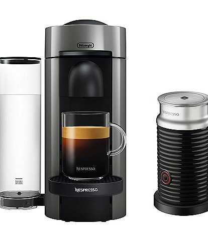 Nespresso VertuoPlus Coffee & Espresso Single-Serve Machine with Aeroccino Milk Frother