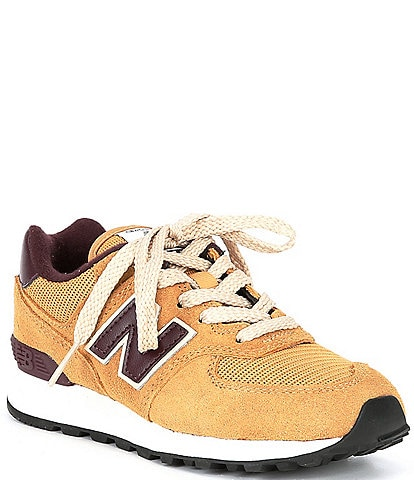 New Balance Boys' 574 V1 Suede And Mesh Lace-Up Lifestyle Shoes (Youth)