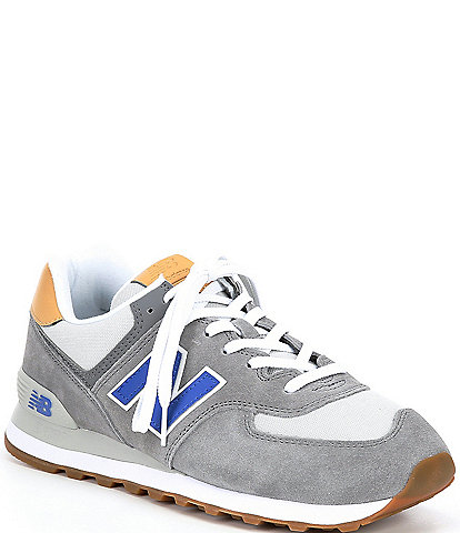 New Balance Men's 574 Suede Mesh Lace-Up Lifestyle Shoes