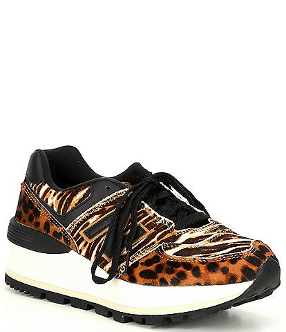 New Balance Women's 574 Animal Print Haircalf Platform Lifestyle Sneakers