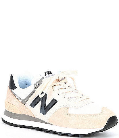 New Balance Women's 574 Lifestyle Suede And Mesh Lace-Up Sneakers