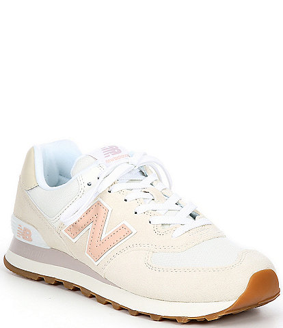 New Balance Women's 574 Logo Detail Lace-Up Lifestyle Sneakers