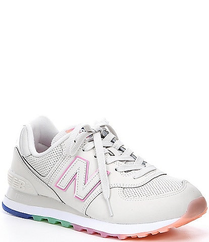 New Balance Women's 574 Mesh and Leather Lifestyle Shoes